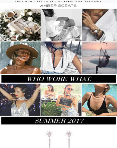 WHO WORE WHAT. Shop this Summers Hottest Styles.