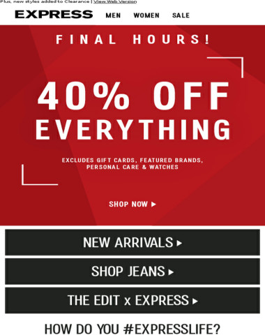 ⏰ ENDS AT MIDNIGHT! 40% off everything
