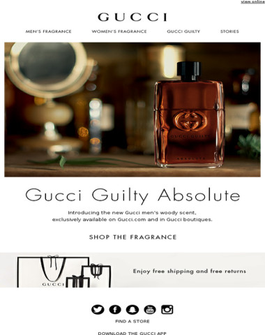 Introducing Gucci Guilty Absolute