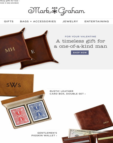 Timeless Valentine's gifts just for him!
