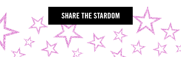 Work with a M·A·C artist as you follow the steps towards stardom to personalize gifts for your loved ones. Complete their look with goodies from our special glam station for a star-studded look! SHARE THE STARDOM