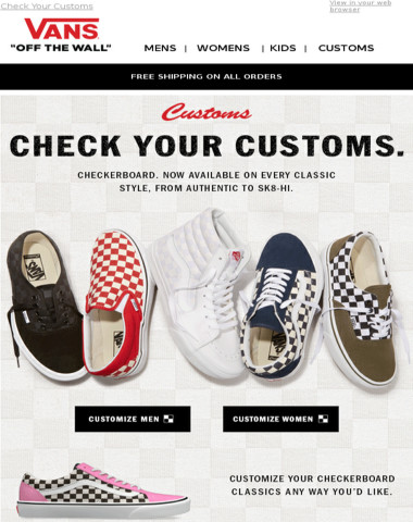 bc3b155f1ea Vans - Customize Your Checkerboard