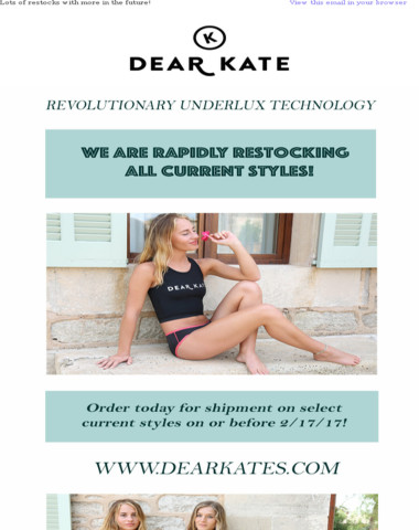 We are rapidly restocking your favorite styles! Order today!!