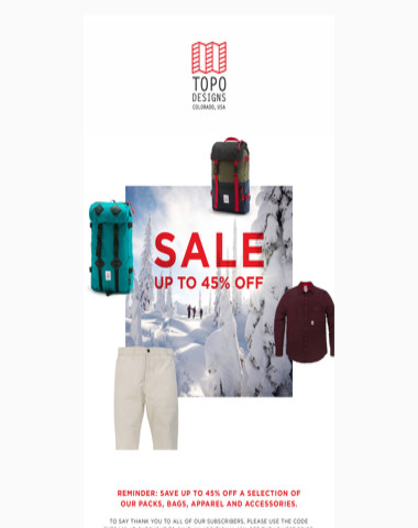SALE REMINDER: Save up to 45%