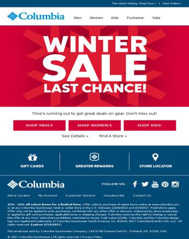 Final days of the Winter Sale!