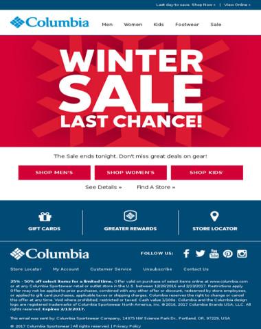 Winter Sale ends tonight!