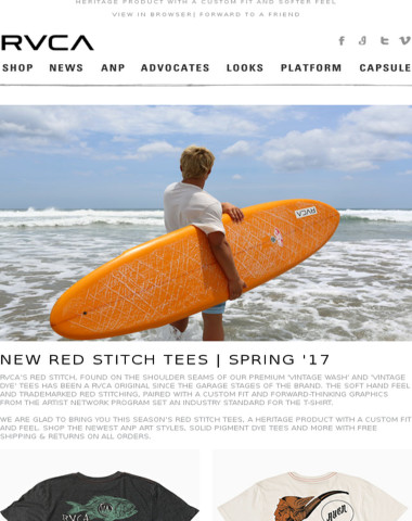 New Red Stitch T-Shirt Collection For Spring '17!