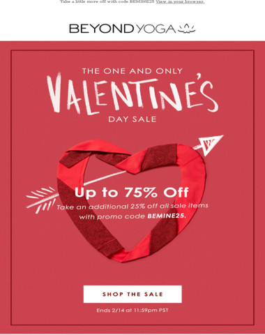 Love Is In The Air (so is up to 75% off sale items!)