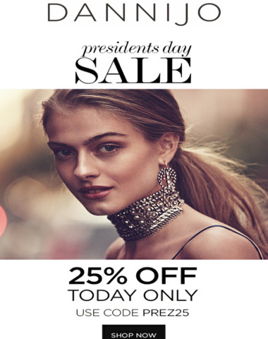Presidents Day Sale - *25% OFF TODAY ONLY*