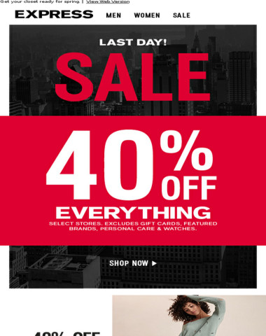 Last day! Get 40% off EVERYTHING