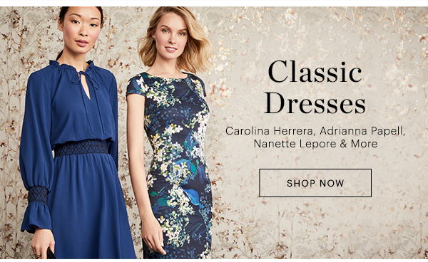 CLASSIC DRESSES, SHOP NOW