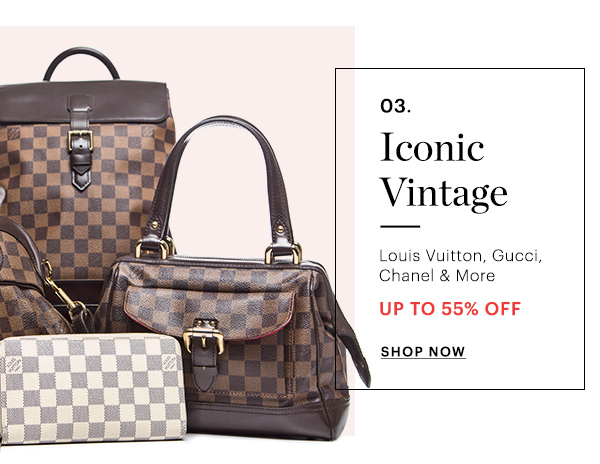 ICONIC VINTAGE, UP TO 55% OFF, SHOP NOW