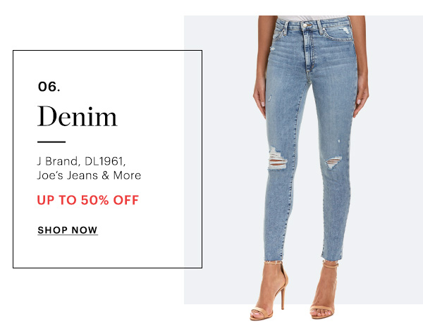 DENIM, UP TO 50% OFF, SHOP NOW