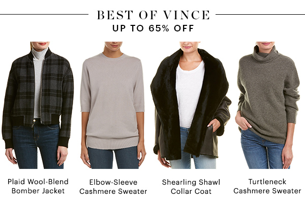 BEST OF VINCE, UP TO 65% OFF