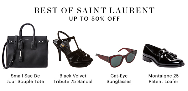BEST OF SAINT LAURENT, UP TO 50% OFF