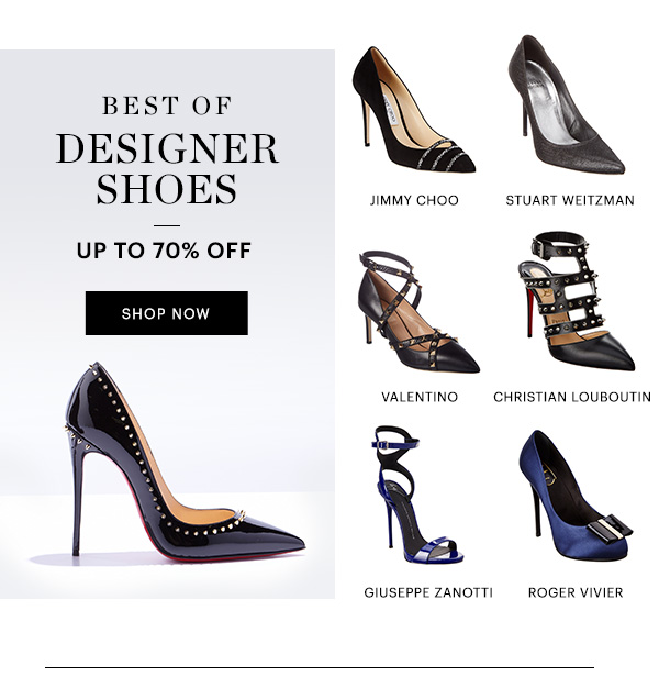 DESIGNER SHOES UP TO 70% OFF