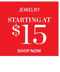 Jewelry Starting At $15