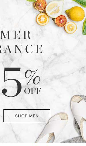 MEN'S SUMMER CLEARANCE, UP TO 85% OFF, SHOP NOW
