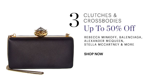 Clutches & Crossbodies Up To 50% Off Shop Now