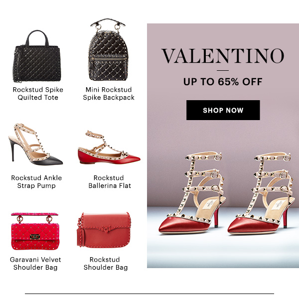 VALENTINO, UP TO 65% OFF, SHOP NOW