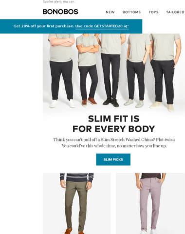 Think you can't pull off a Slim Fit Chino?