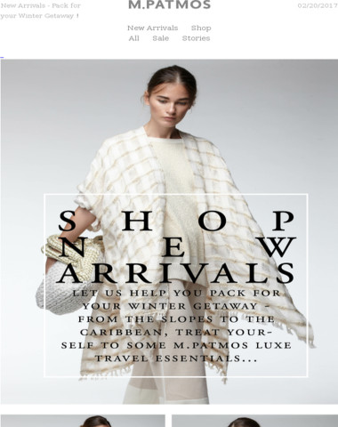 New Arrivals - Pack for your Winter Getaway !
