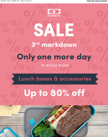 One more day to enjoy SALES