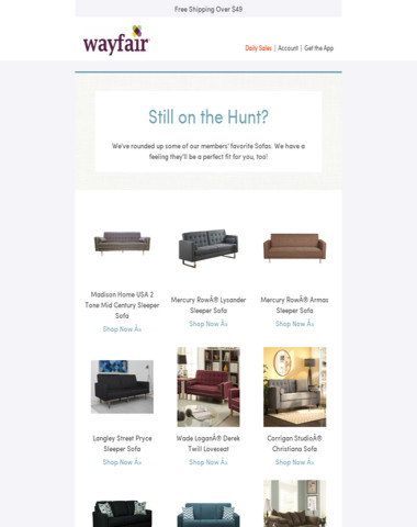 Shopping for Sofas? We can help