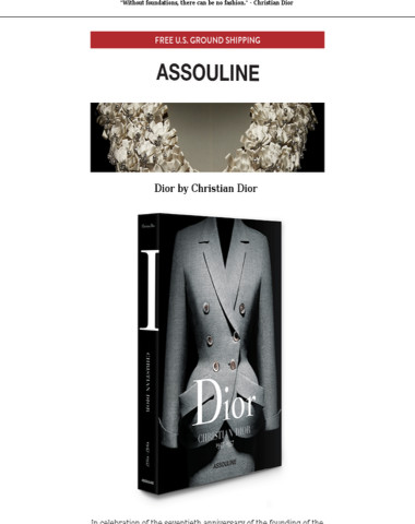Assouline's tribute to Dior