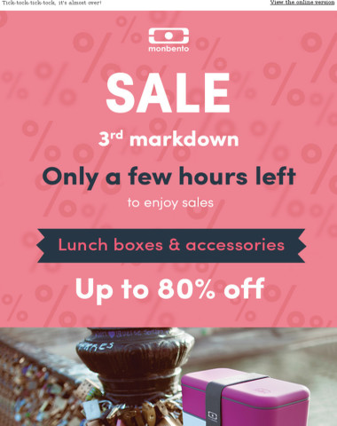 A few hours left to enjoy SALES