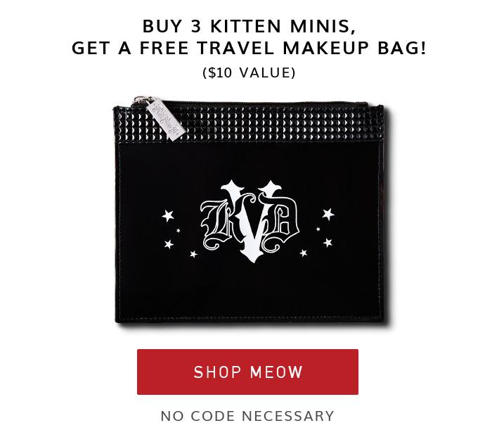 Buy 3 Kitten Minis, Get a Free Travel Makeup Bag!