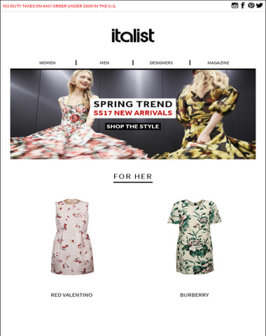 SS17 Spring Trends New In: Balenciaga, Gucci, Paula Cademartori New Arrivals! 30% Off any other Store
