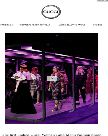 Presenting the First Unified Gucci Women's and Men's Fashion Show
