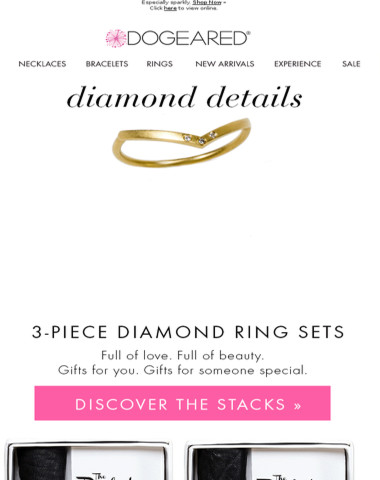 Exclusively Here, First! Diamond Ring Stacks