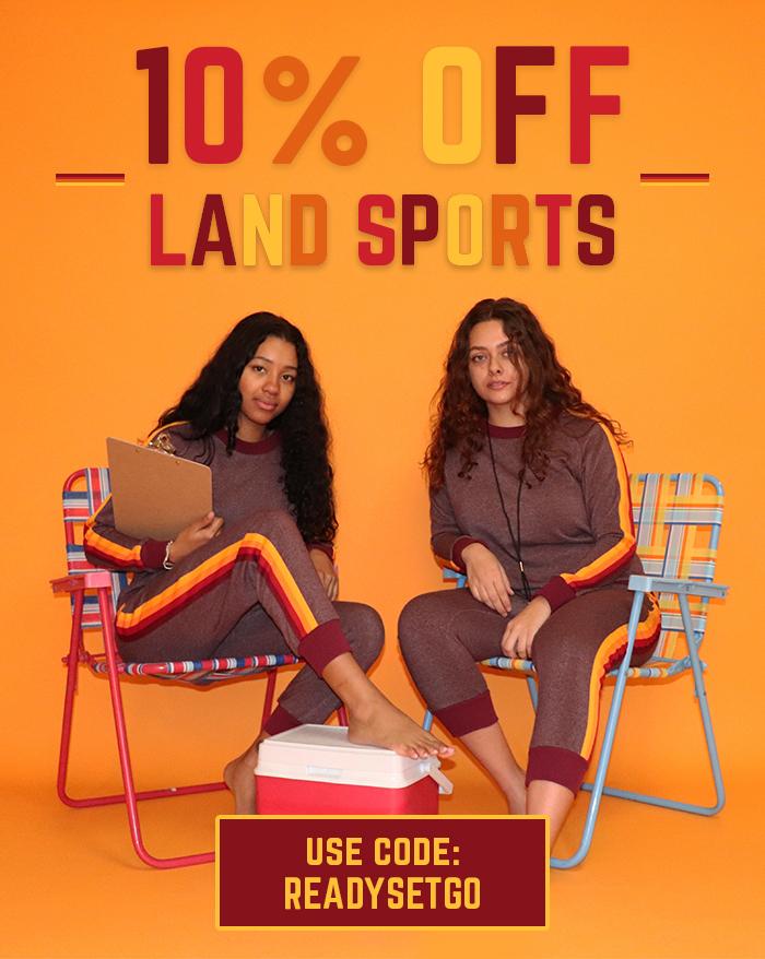 10% off land sports