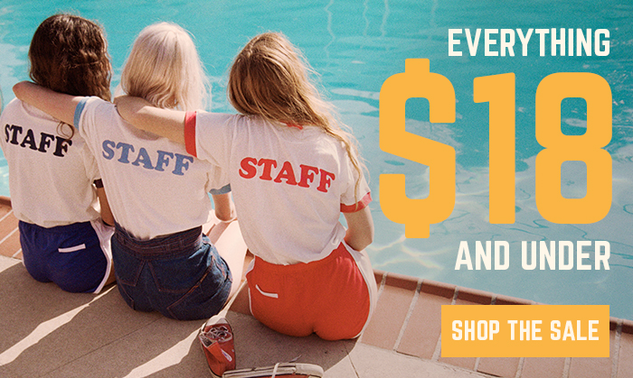 everything $18 and under - shop the sale