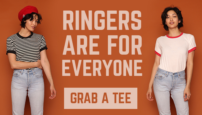 ringers are for everyone - grab a tee