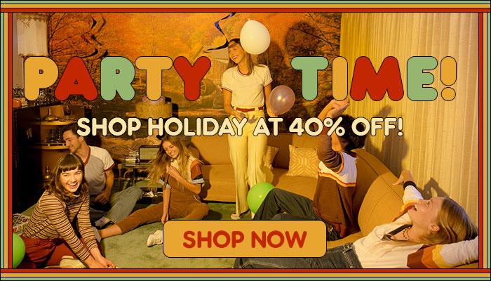 shop holiday at 40% off