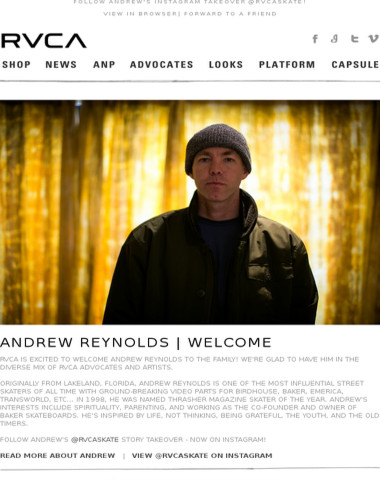 Andrew Reynolds | Welcome To The Family!