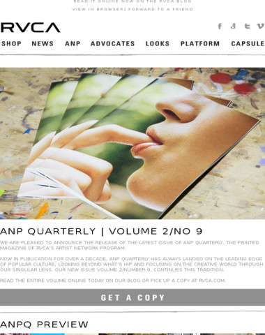 Introducing ANP Quarterly: VOL 2/NO 9