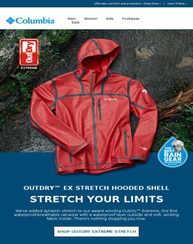 OutDry Extreme raingear now with stretch.
