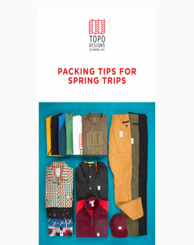 Packing Tips for Spring Trips