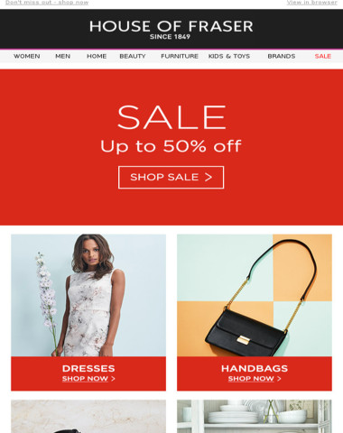The SALE continues: up to 50% off dresses, shoes, home & more