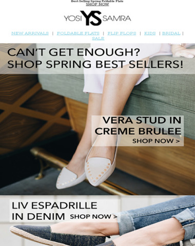 Going Fast: Spring Best Sellers