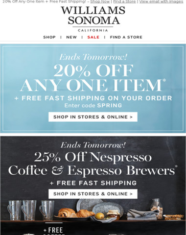 Nespresso SALE + 20% Off Everything Easter End Tomorrow & FREE Fast Shipping