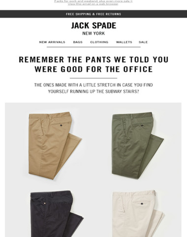 Your new weekend pants (and our extended sale!)