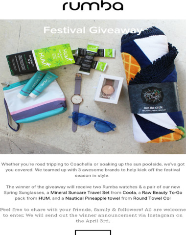 It's festival season   Gear up with our giveaway!