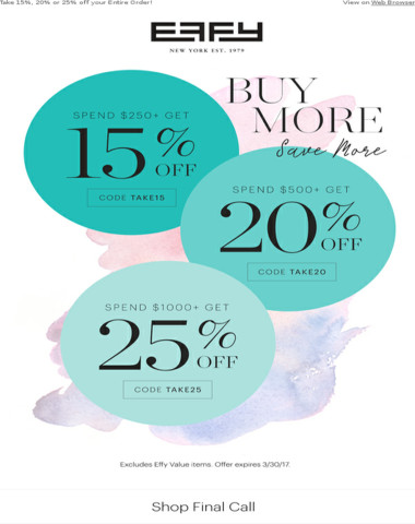 Our Big Sale is on: Up to 25% off in Extra savings!
