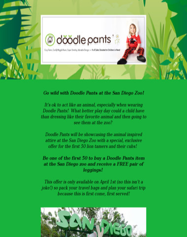 Go wild with Doodlepants at the San Diego Zoo!