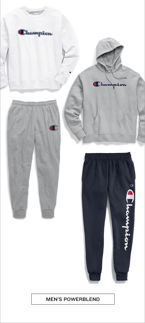 New Men's Powerblend Sweats-Turn on your images